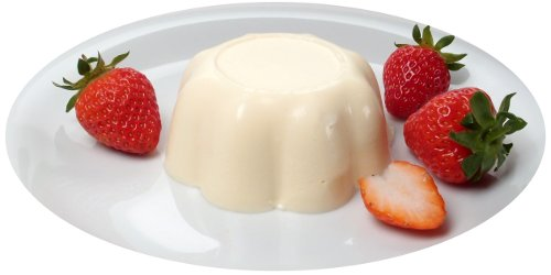 Bavarian cream with strawberries
