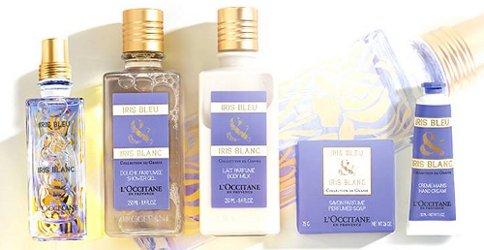 L'Occitane Iris Bleu & Iris Blanc, product range