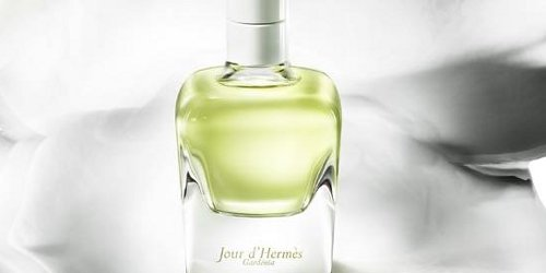 Jour d'Hermès Gardénia, detail of brand visual