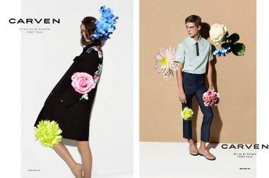 Carven fashion campaign, 2014