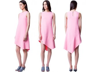 Narciso Rodriguez Look 20 Contoured Dress in Pink