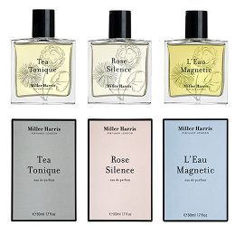 Miller Harris Rose Silence, Tea Tonique & L'Eau Magnetic