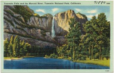 Yosemite Falls and the Merced River, Yosemite National Park, California