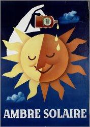Ambre Solaire, vintage advert