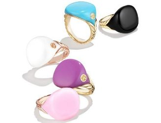 David Yurman Bubblegum Pinky Rings