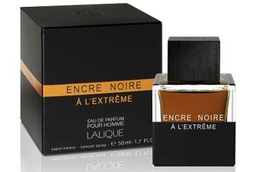 Lalique Encre Noire À L'Extrême, bottle and box