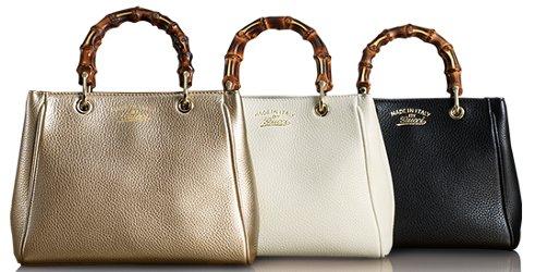 Gucci bamboo shopper mini leather top handle bag