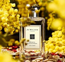 Jo Malone Mimosa & Cardamom bottle with mimosa