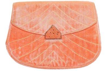 1930s Jean Patou Pink Velvet Clutch