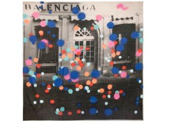 Balenciaga heritage spray square scarf