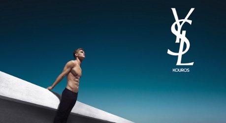 Yves Saint Laurent Kouros Silver campaign
