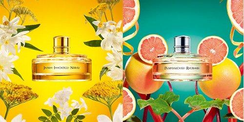 L'Occitane + Pierre Herme Jasmin Immortelle Neroli & Pamplemousse Rhubarbe, brand visuals