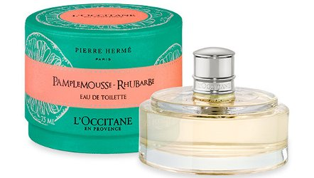 L'Occitane + Pierre Herme Pamplemousse Rhubarbe, packaging