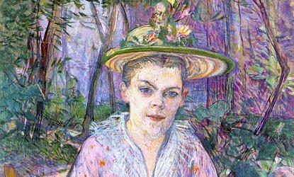 Henri de Toulouse-Lautrec, Woman with an umbrella, detail
