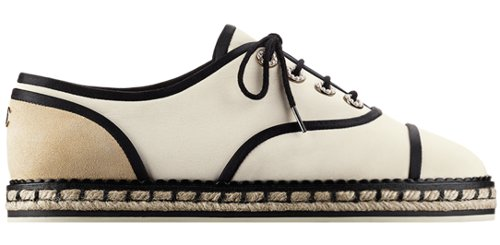 Chanel silk crepe lace ups