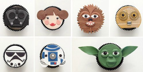 Star Wars fondant cup cake toppers