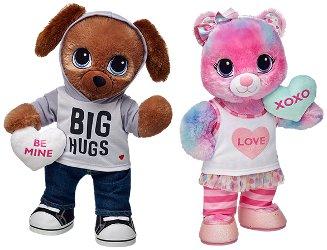 Build-A-Bear Workshop Sweet Hugs Swirl Bear and Sweet Hugs Pup