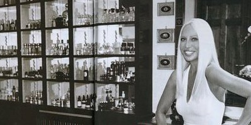 Donatella Versace and her perfume cabinets