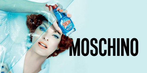 Linda Evangelista for Moschino Fresh Couture