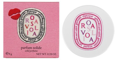 Diptyque + Olympia Le-Tan Rosaviola solid perfume with box