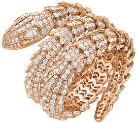 Bvlgari Serpenti gold and diamond bracelet