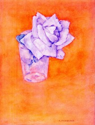 White Rose in a Glass by  Piet Mondrian