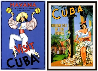 vintage Cuba travel posters
