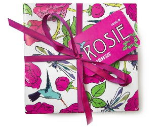 Lush Rosie wrapped gift