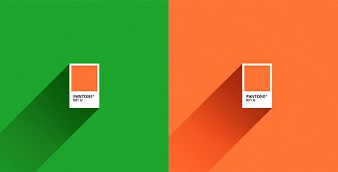 Pantone Green Orange