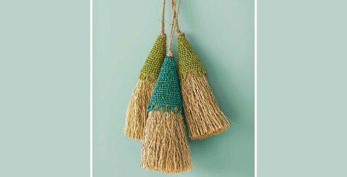 beaded vetiver tassels
