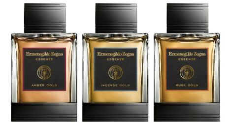 Zegna Ezzenze Gold Collection Amber Gold, Incense Gold and Musk Gold