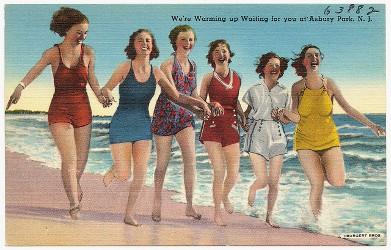 Asbury Park vintage postcard