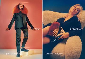 Calvin Klein Fall 2016, Grace Coddington and Kate Moss