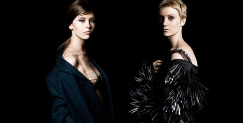 Mia Wasikowska and Mia Goth for La Femme Prada