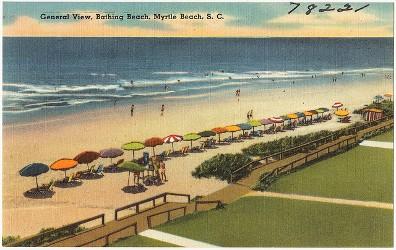 Myrtle Beach vintage postcard