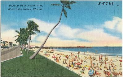 Palm Beach vintage postcard