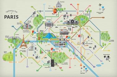 Sightseeing map of Paris