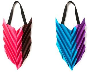 Issey Miyake pleated tote bags