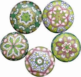 Fimo clay pendants