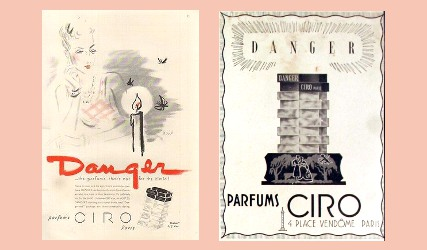 Two vintage adverts for Ciro Danger
