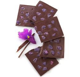Sucré Candied Violet Chocolate Bar