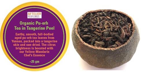 Aftelier Organic Aged Pu-erh Tea in Tangerine