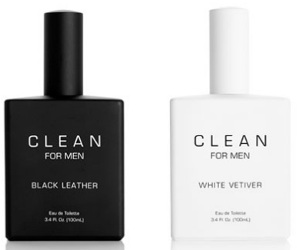 Clean Black Leather and White Vetiver