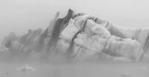 Foggy Iceberg at Glacier Lagoon
