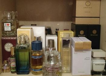 Erin's perfume shelves