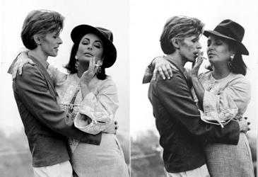 Elizabeth Taylor and David Bowie