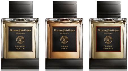 Ermenegildo Zegna Essenze Spice Collection Bourbon Vanilla, Indian Spice and Persian Saffron