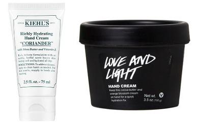 Kiehl's Coriander Richly Hydrating Hand Cream and Lush Love and Light