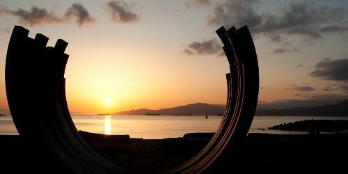 beach sunset Vancouver