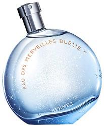 Hermès Eau des Merveilles Bleue fragrance bottle